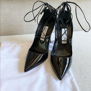 Jimmy Choo black lace-up heels